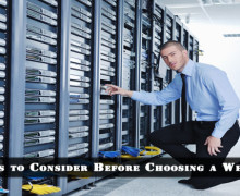 Factors to Consider Before Choosing a Web Host