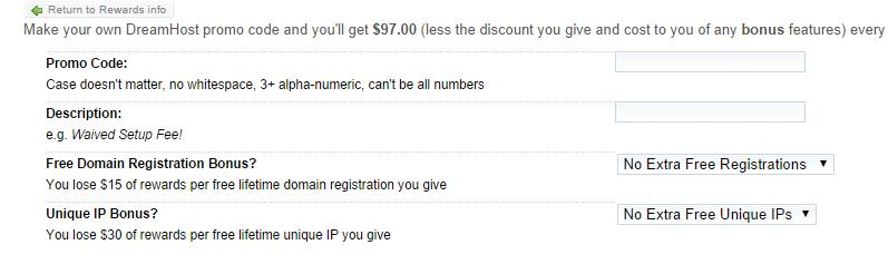 Create DreamHost Discount Code