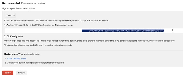 Setting up Google apps with your domain on BigRock6