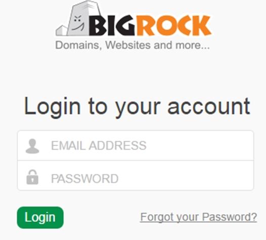 Step1 BigRock Login