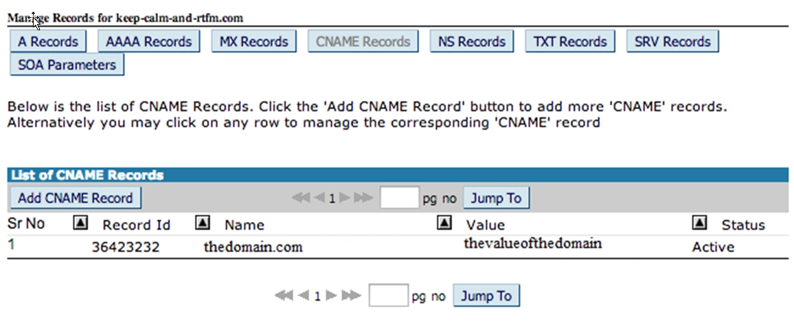 Step4 Find CNAME Record
