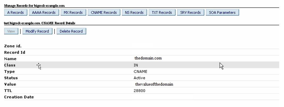 Step5 Delete CNAME Record