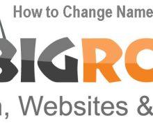 How to Change Nameservers with BigRock