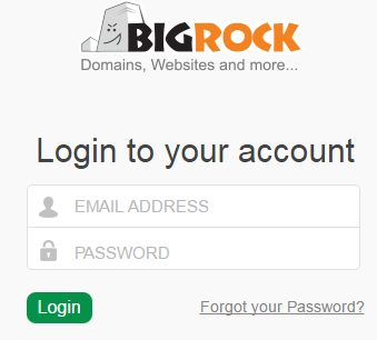 How to login and change passwords on Plesk using BigRock 5