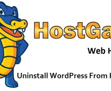 Uninstall WordPress From HostGator