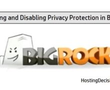 Enabling and Disabling Privacy Protection in BigRock