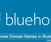 Renew Domain Names in Bluehost