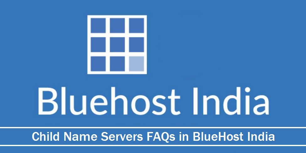 Child Name Servers FAQs in Bluehost India