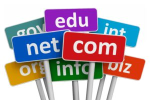 Domain names and internet concept difference between domain name and website name