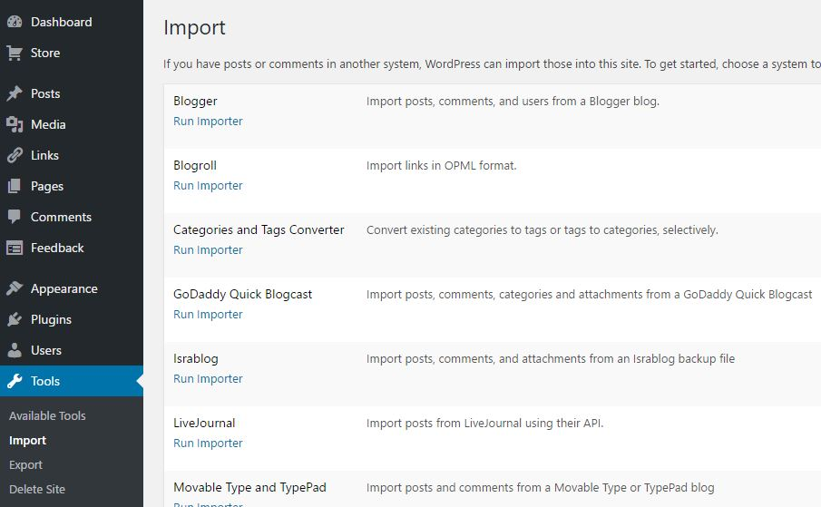 how to export blogger to wordpress