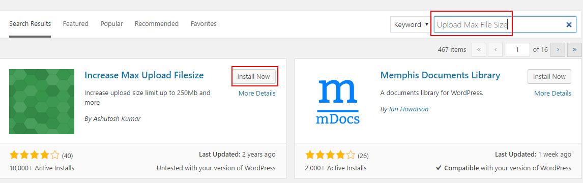 Increase max upload size wordpress