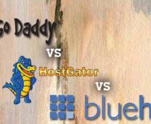 Godaddy vs. HostGator vs. BlueHost