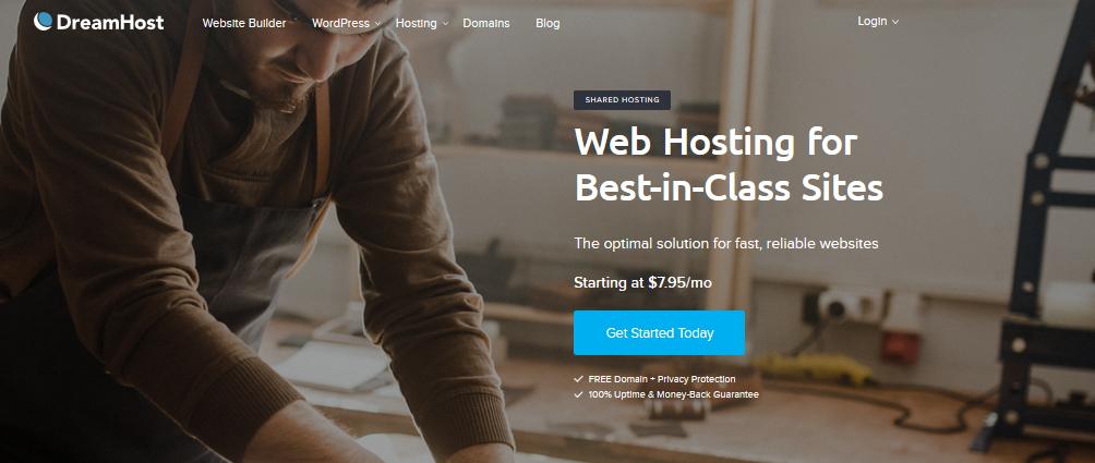 Dreamhost Webpage